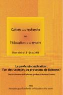 Cahiers de la recherche sur l'éducation et les savoirs, hors-série n°3/juin 2011