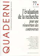 Quaderni, n° 77/hiver 2011-2012