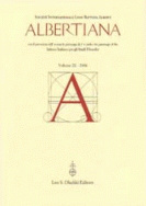 Albertiana, vol. IX/2006