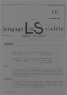 Langage et socit, n 10/dc. 1979
